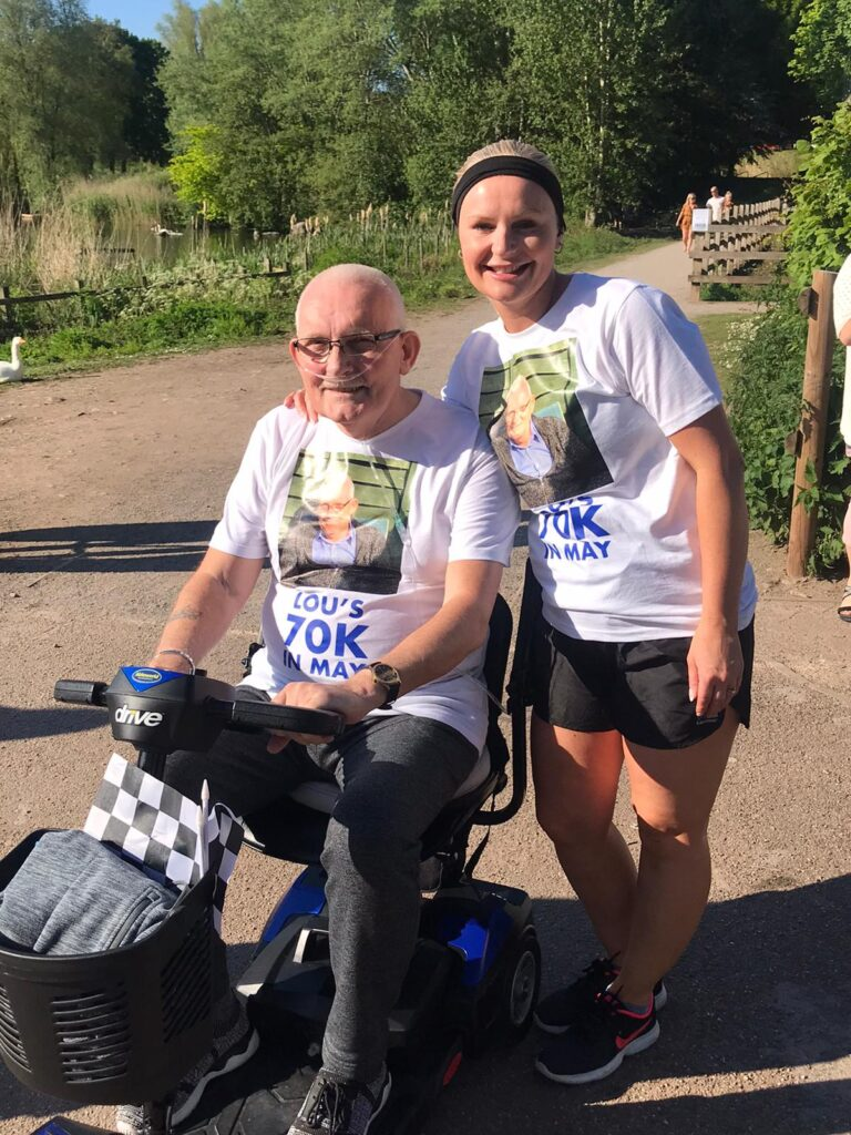 Gary and Louise Redfern at the completion of the challenge