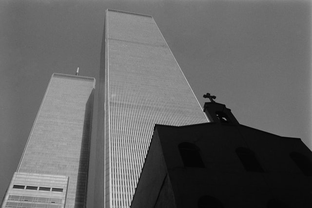 The Twin Towers in 1990